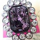 NWT BETSEY JOHNSON Vicky Lace Rhinestone Ring Size 7.5