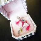 NIB Juicy Couture Silver Enamel Fly Kite Crystal Charm