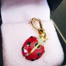 NIB Juicy Couture Ladybug Open Wings Pave Crystal Charm