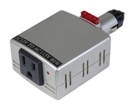 Pocket Power Inverter 80 Watt DC to AC New!