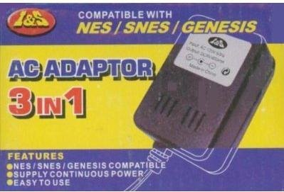 NEW 3-in-1 AC Power Adapter NES SNES Genesis Nintendo