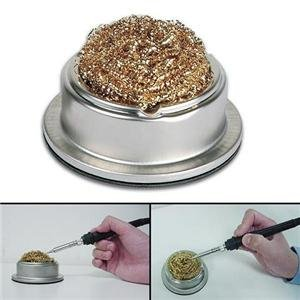 Soldering Iron Tip Cleaner Wire & Stand, Solder sponge