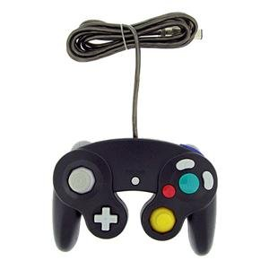 2 BLACK CONTROLLERS for Nintendo Game Cube GC & Wii