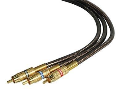 9' Component Video Cable RCA Gold Connectors Flexible