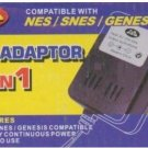 6  3-in-1 AC Power Adapters NES SNES Genesis Nintendo
