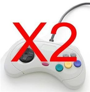 2 NEW 6 BUTTON GAME CONTROLLER PAD FOR SEGA GENESIS