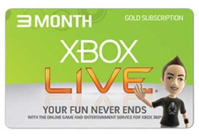 XBOX Live Subscription GOLD Card 3 Month + NETFLIX 360