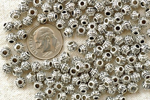 16pcs Antique Silver Plated Bali Spacer Beads 5.5mm a081