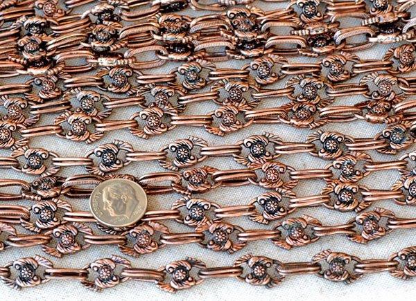 Antique Copper Plated Metal Chain j26d(2ft)