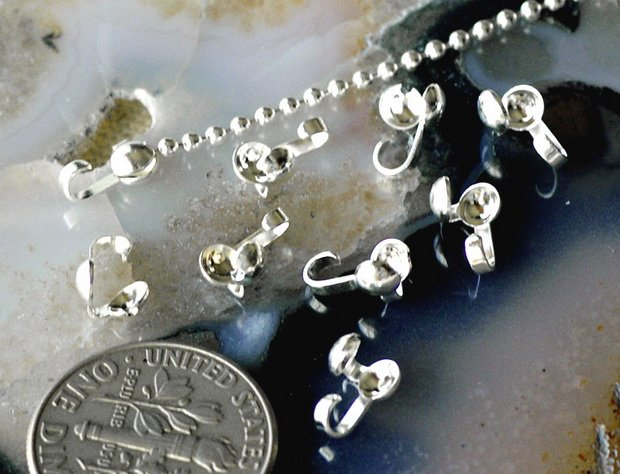 80 Sterling Silver Plated Brass Clamshells Knot Covers m45s