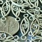 18pcs Antique Silver Plated Bali Connector Flowers 24mm a224