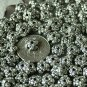 40pcs Antique Silver Plated Bali Flowers Bead Caps Finding 8mm a145