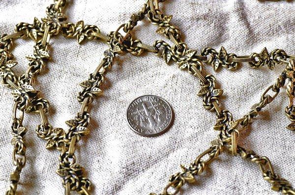 Fancy Metal Chain Antique Bronze j03c-BY THE FOOT