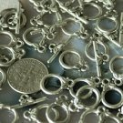 16pcs Antique Silver Plated Bali Toggle Clasp 10mm a008