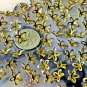 100 Solid Brass Stamping Filigree Flowers Beadcaps Finding 9mm bf31