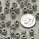 28pcs Antique Silver Plated Bali Square Beads 6mm a225