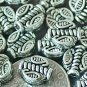 40 Antique Silver Plated Bali Spacer Beads 7.5mm a238