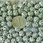 22pcs Antique Silver Plated Bali Spacer Beads 7mm a227