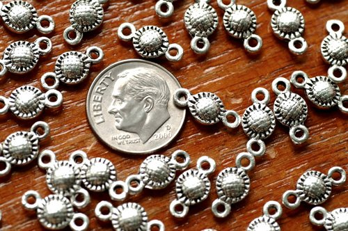 36pcs Antique Silver Plated Bali Connector Beads Finding a241