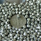 80 Antique Silver Plated Bali Spacer Beads 4.5mm a215
