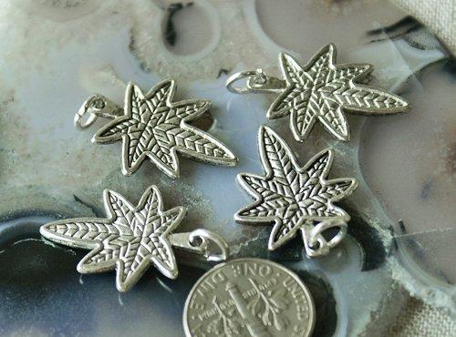 16pcs Antique Silver Plated Metal Bali Charm Pendant a111