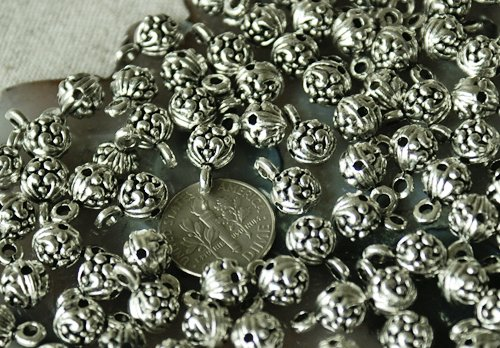 20pcs Antique Silver Plated Metal Bali Pendant Finding Beads a135