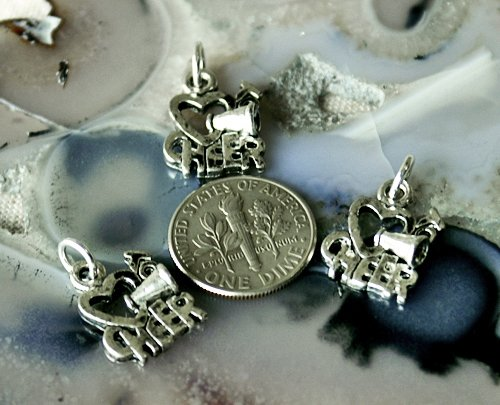 15pcs Antique Silver Plated Bali Charm Pendant a132