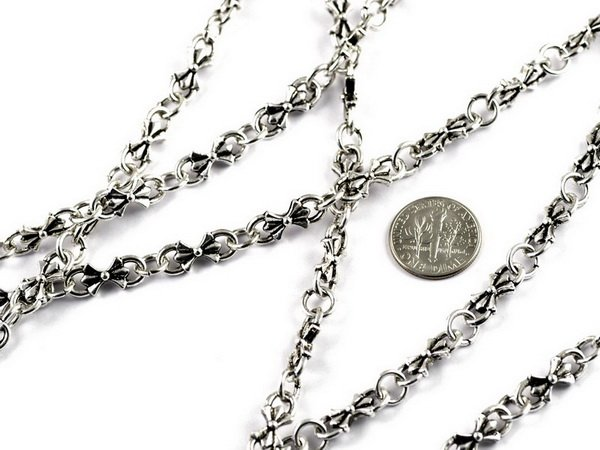 Fancy Metal Chain Antique Bronze j14b-BY THE FOOT