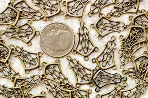 120pcs Wholesale Bulk Antique Bronze Brass Chandeliers Connector 20mm be29b