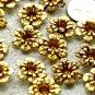 16pcs Solid Brass Stamping Flower Filigree Bead Flower Embellishment 16mm bf18