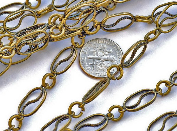 Fancy Metal Chain Antique Bronze j10c(2ft)