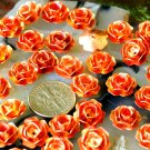 24pcs Copper Plated Metal Stamping Filigree Flowers Finding 11mm bf37