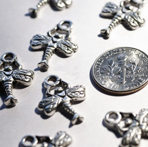 16pcs Antique Silver Plated Bali Charm Pendant Finding a089