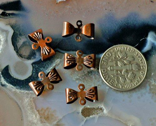60pcs Antique Copper Bow Tie Connectors 12x8mm b56d