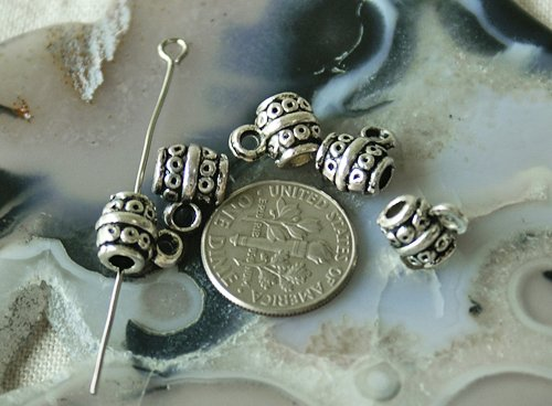 20pcs Antique Silver Plated Bali Pendant Finding Beads a076