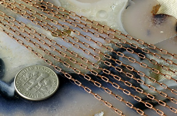 Antique Copper Brass Link Cable Chains 3.5x1.6mm c129(6ft)