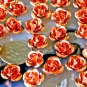 30pcs Copper Plated Metal Stamping Filigree Flowers 11mm bf36