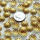 60 Brass Stamping Filigree Bead Caps Flower Embellishment Finding 11mm  bc03