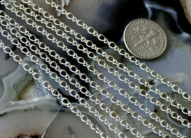Sterling Silver Brass Chain Link Curb Chain Necklace 3.5x2.5mm c105(4ft)