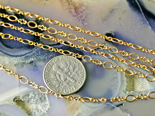 Fancy Solid Copper Link Chains c13(3ft)