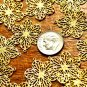 16pcs Brass Filigree Wrap Charms Connectors 26mm be18