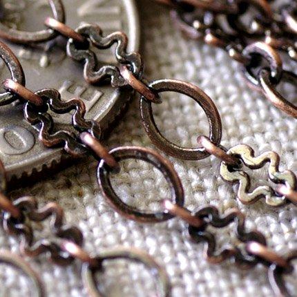 Antique Copper Chain Link Brass Copper Chains Necklace 4.3x3.1mm  c81a(3ft)