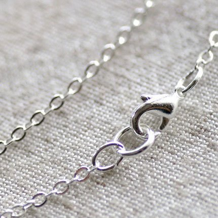 Sterling Silver Plated Brass Cable Chain Necklace Blank Silver Necklace cn03 30""