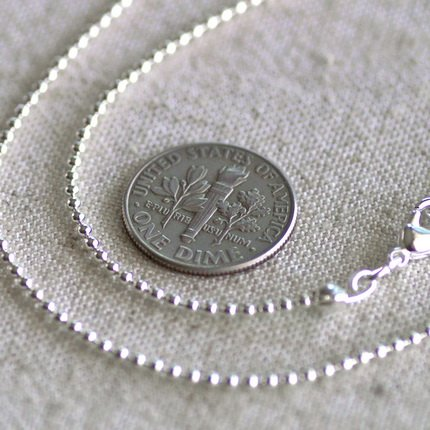 """Sterling Silver Plated Brass Ball Chain Necklace Silver Necklace cn50as 30"""""""