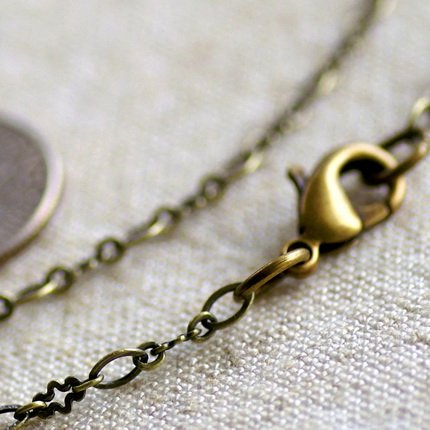 Antique Bronze Plated Brass Blank Necklace cn80a 30""