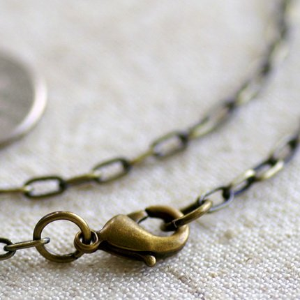 """Antique Bronze Plated Brass Cable Chains Necklace Blank Bronze Necklace cn82a 30"""""""