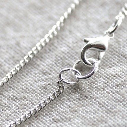 """Sterling Silver Plated Brass Curb Chain Blank Necklace cn93 30"""""""