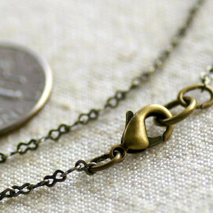 "Antique Bronze Brass Eight Figure Chains Necklace Blank cn95a 30"""