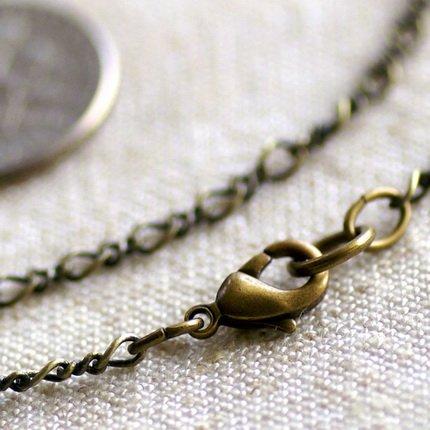 Antique Bronze Brass Blank Necklace Bronze Chain Necklace cn52b-30