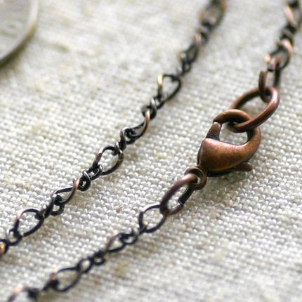 Antique Copper Plated Brass Necklace Blank Chain Necklace cn104 30""